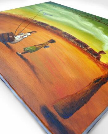 Peinture sur toile La rencontre