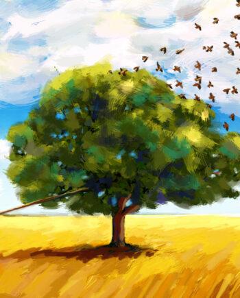 Peinture digitale Liberté