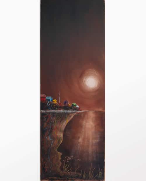 Tableau peinture La femme mystère labaleinegraphique.com