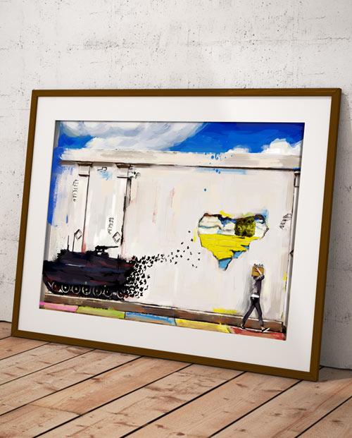 tableau graffiti deco chambre revolution