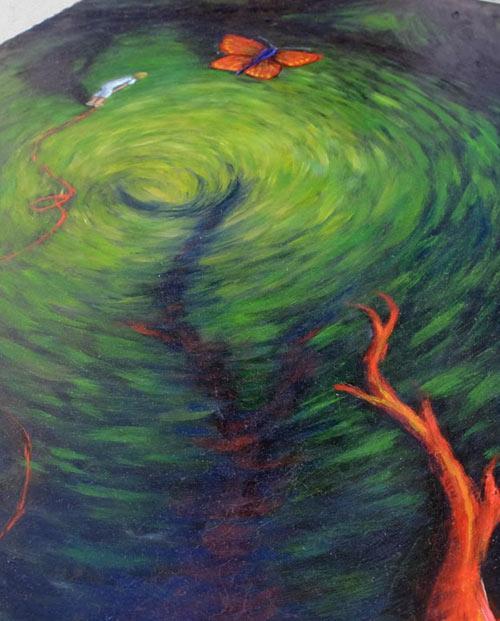 Tableau sur toile peinture La guérisseuse