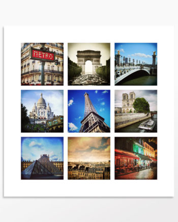 Photo mosaïque Au coeur de Paris