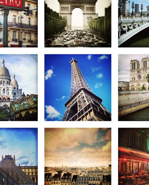 Photo mosaïque Au coeur de Paris