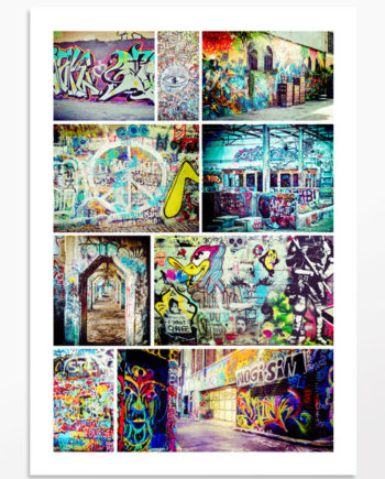 Photos Mosaïque de graffitis
