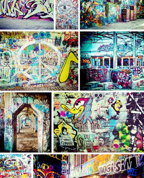 Photos Mosaïque de graffitis