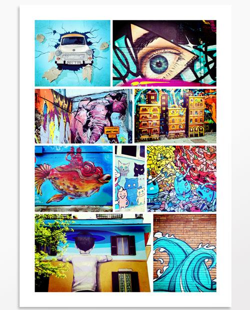 Multi photos Street Art
