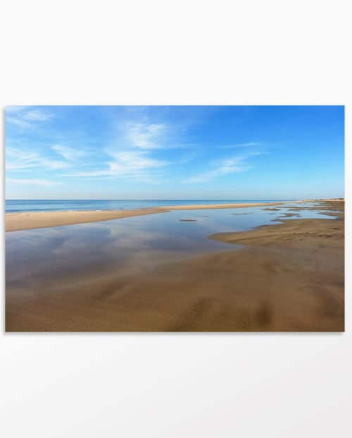 Tableau photo design Longue plage de Camargue