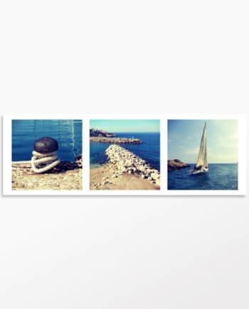 Tableau photo triptyque Sortie en mer