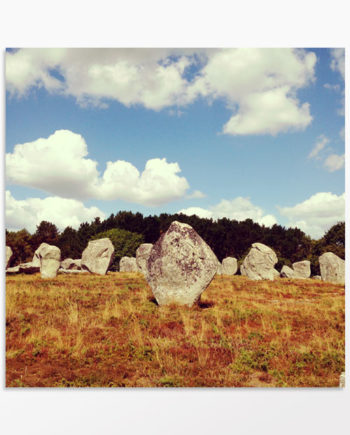 Photo art paysage menhirs bretagne