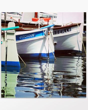 Tableau triptyque Les pointus de Marseille