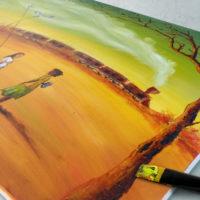 Tableau peinture à l'huile labaleinegraphique.com