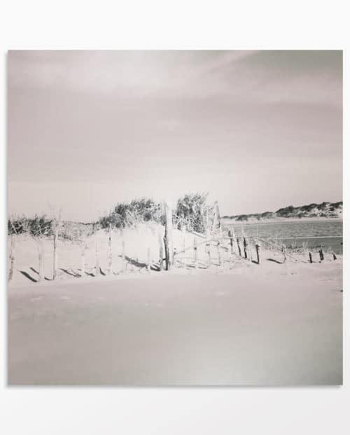 Tableau triptyque Noir et blanc Balade sur la plage