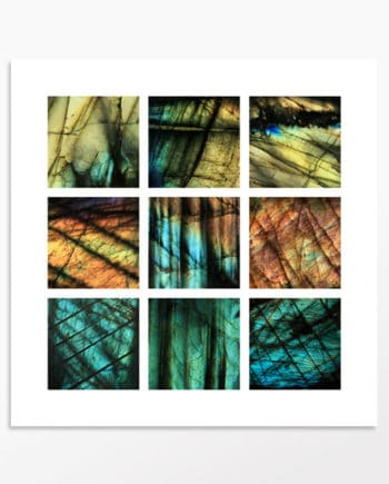 Multi-photo abstrait de labradorites de Madagascar