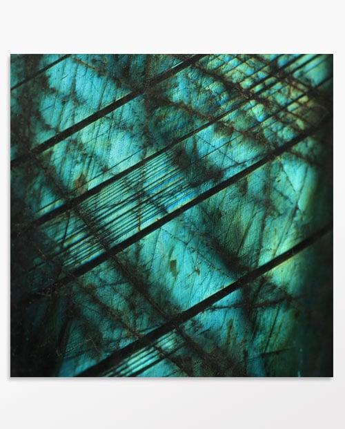 Photo macro minéraux labradorite 3