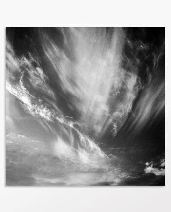 """photo abstraite noir et blanc """"Ciel animé"""""""