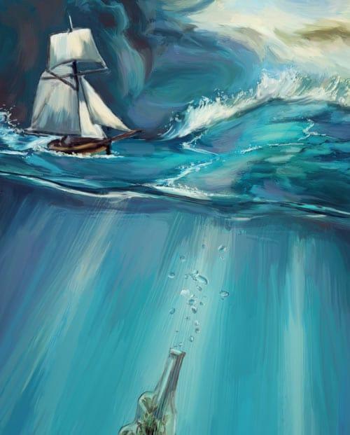 Toile façon peinture surréaliste Jour d'orage