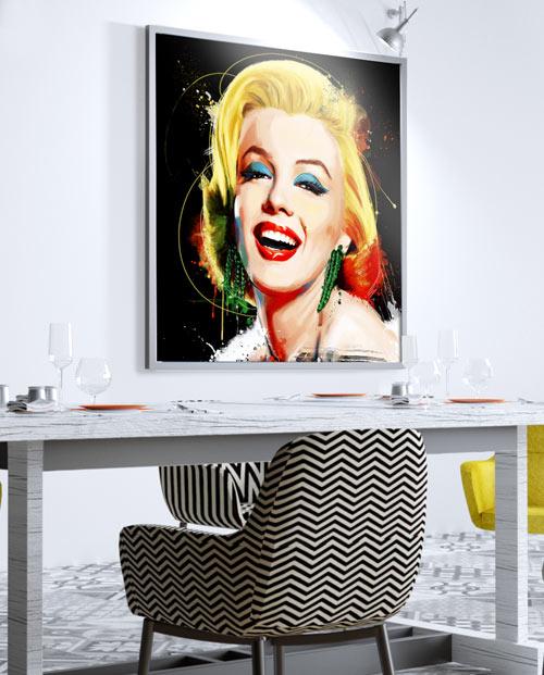 Tableau Marilyn Monroe Poupoupidou, décoration murale cuisine