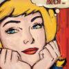 tableau façon Lichtenstein pour une décoration glamour