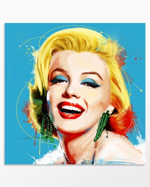Tableau Marilyn Monroe Poupoupidou en bleu, décoration murale
