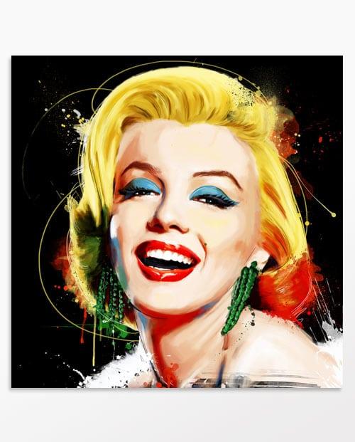 Tableau Marilyn Monroe Poupoupidou en noir, décoration murale