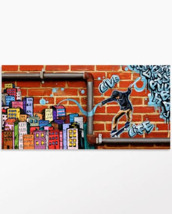 Toile street art style art urbain Multicolor