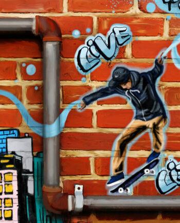 Toile street art Multicolor