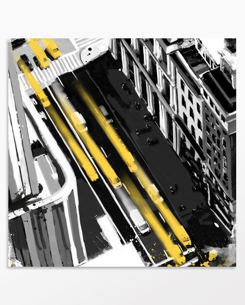 Déco New York avec des taxis jaunes