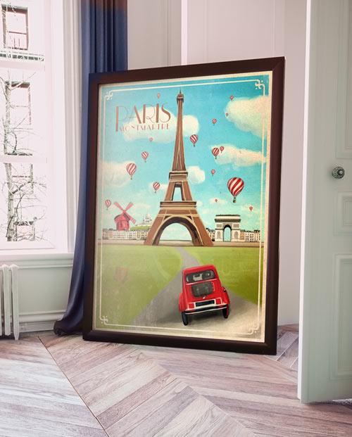 Affiche Paris vintage pour la déco interieure