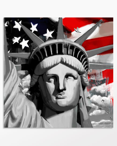 Cadre New York Liberty, un tableau tendance pour votre décoration intérieure