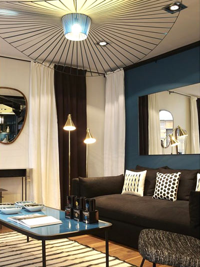 Conseils déco pour petits espaces : beaucoup de lampes
