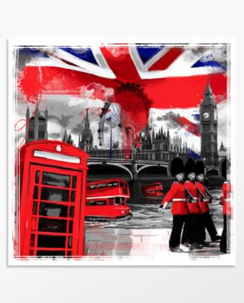 Déco Londres bicolore