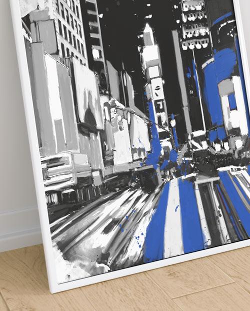 Toile New York de Times Square pour une décoration design