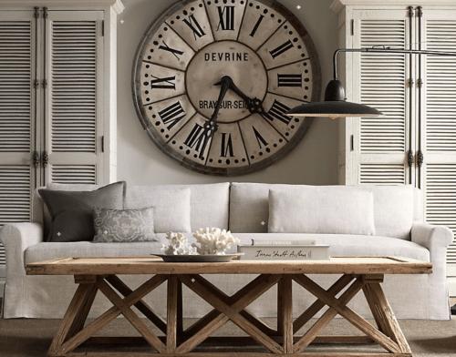 5ème astuce déco : une horloge géante