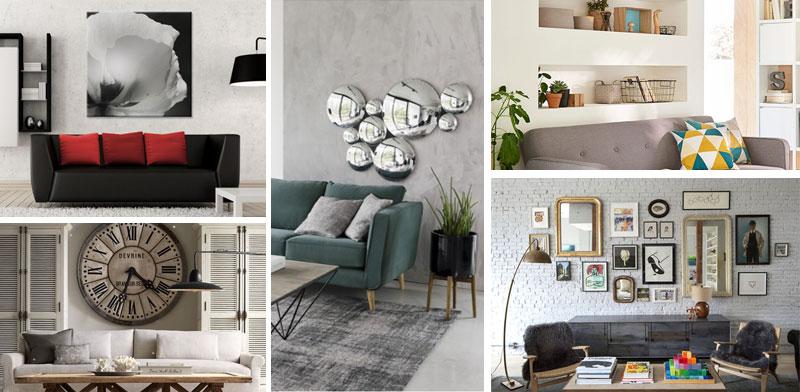5 astuces déco pour habiller le mur au dessus du canapé
