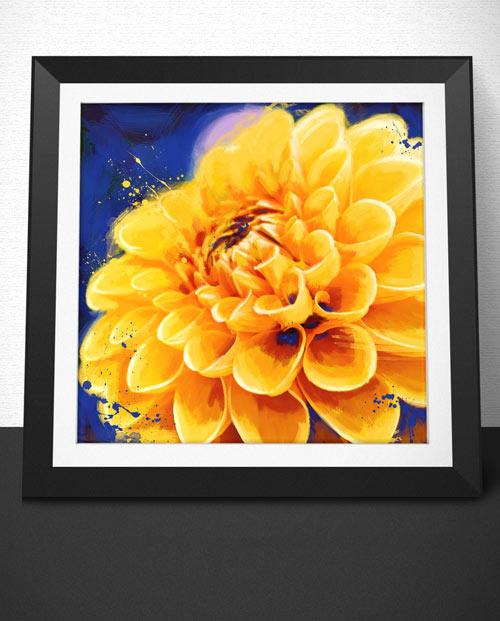tableau fleur orange pour une décoration fleur réussie