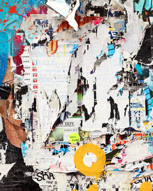 Zoom sur le tableau collage street art