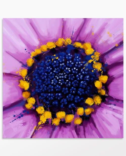 Tableau fleur violette imprimé sur toile ou poster