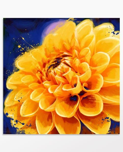 Tableau fleur orange pour la décoration murale