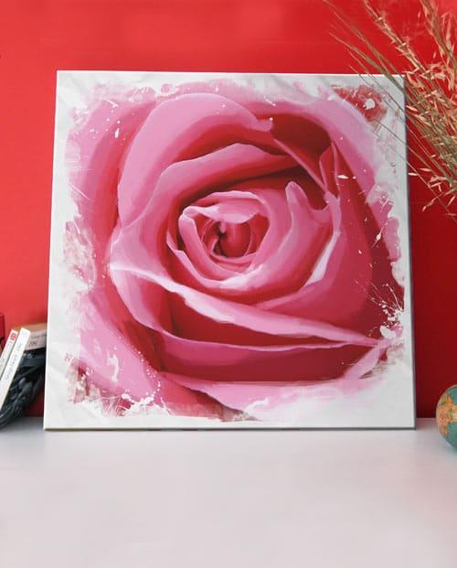 Tableau rose pour la décoration de chambre