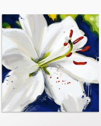 Tableau orchidée blanche