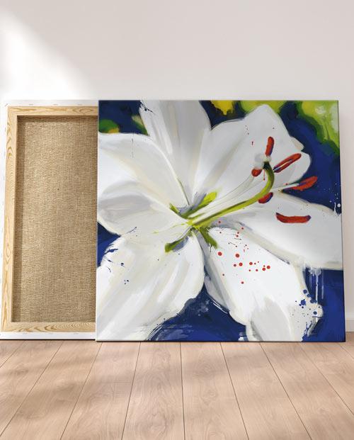 Tableau orchidée blanche pour une décoration fleur moderne
