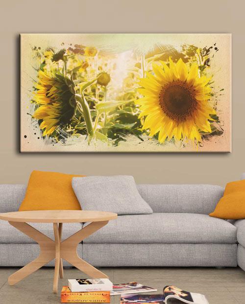 Tableau tournesol d'été pour une décoration florale dans votre salon