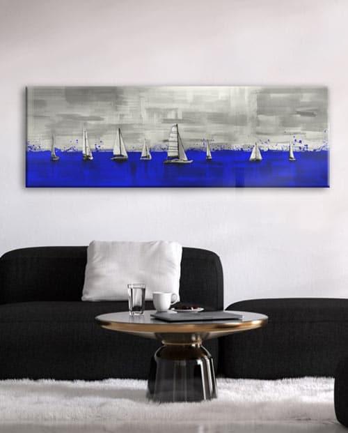 Tableau voiliers de régate pour une décoration moderne