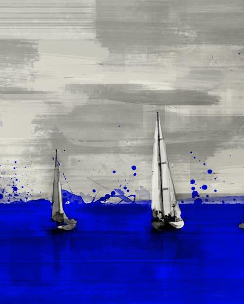 Tableau voiliers de régate - zoom