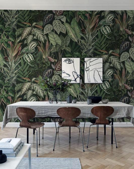 papier peint à motif pour une déco tropicale