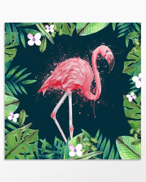 Tableau flamant rose pour la décoration