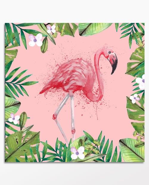 Tableau flamant rose pour la décoration murale