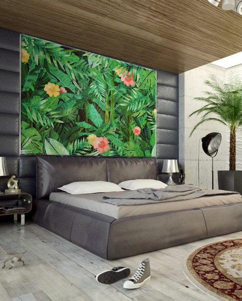 tableau jungle pour une décoration tropicale tendance