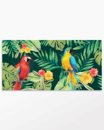 Tableau perroquets dans la jungle