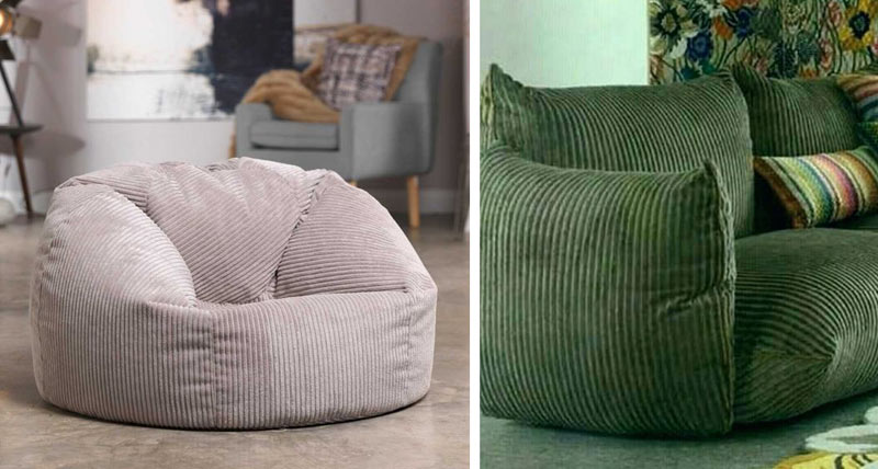 Des meubles en velours côtelés pour une déco tendance en 2019